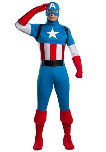 Marvel Adult Captain America Premium Costume