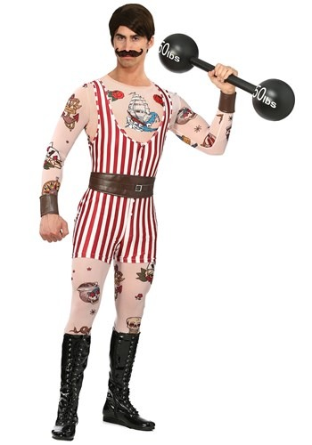Men's Plus Size Vintage Strongman Costume1