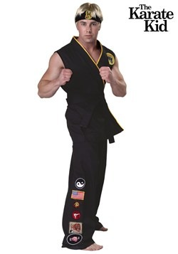 Men's Karate Kid Plus Size Authentic Cobra Kai Costume