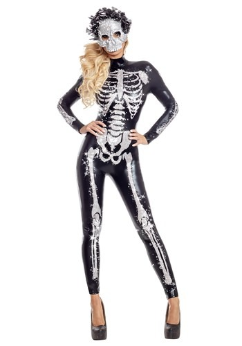 Women's Glamorous Skeletal Beauty Costume