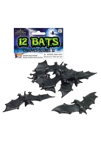 12 pc Bat Halloween Decor Set