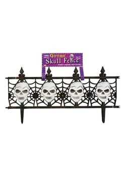 "2 pc 24"" x 12"" Gothic Skull Fence Decoration"
