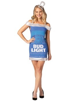 Women's Bud Light Can Dress Costume