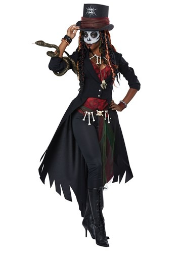 Women's Plus Size Voodoo Magic Costume