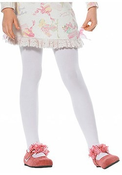Kids White Tights