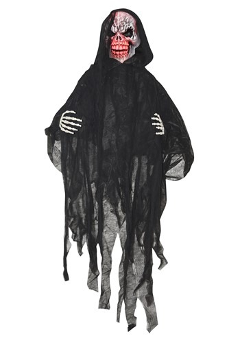 5' Light Up Black Reaper Decoration