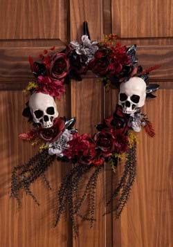 Wreath w/ Skulls & Roses Decoration