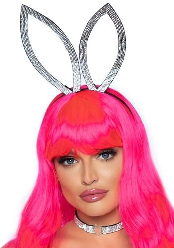 Faux Rhinestone Bunny Ear Headband
