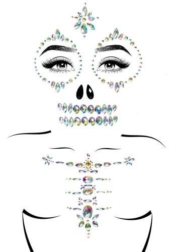 Skeleton Adhesive Face & Chest Jewel Kit