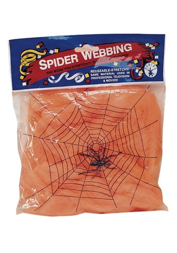Orange Glow Spider Web Black Light Activated 60g