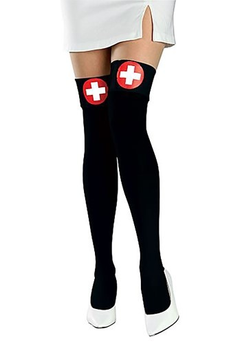 Black Nurse Thigh Highs