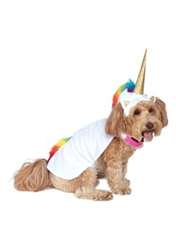 Light Up Collar Unicorn Cape Dog Costume