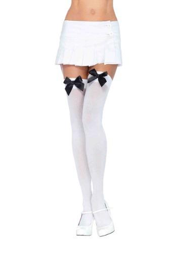 White Stockings with Black Bows