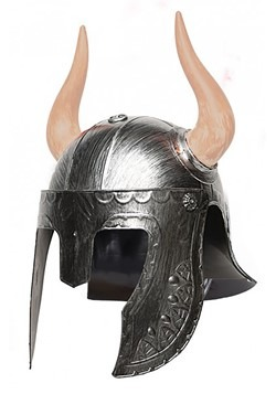 Adult Silver Horned Helmet
