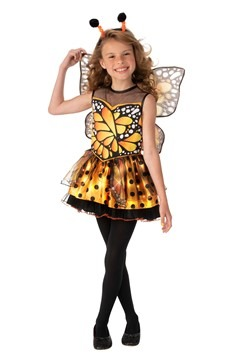 Girl's Orange Monarch Butterfly Costume