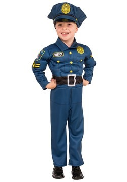 Boy's Top Cop Muscle Costume