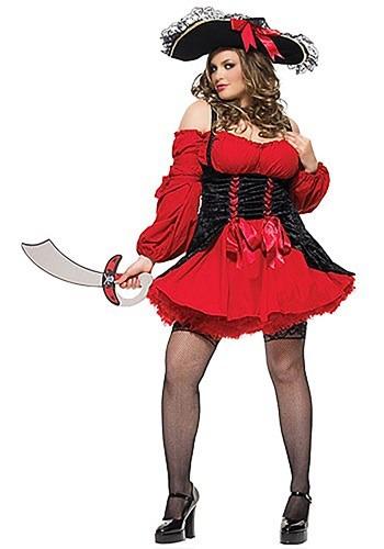 Plus Size Sexy Vixen Pirate Costume