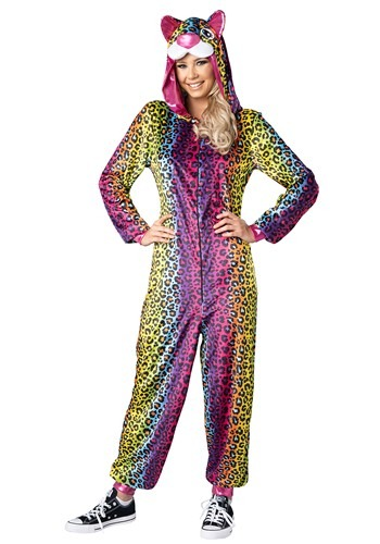 Woman's Neon Leopard Costume