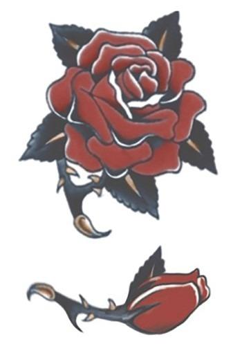 Temporary Rose FX Tattoo