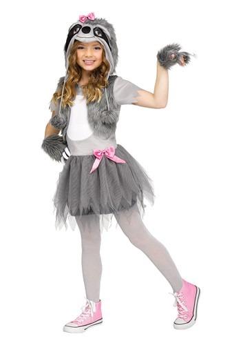 Girls Sweet Sloth Costume