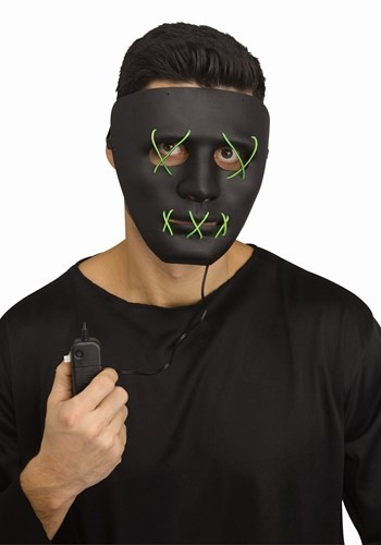 Green Light Up Stitch Mask