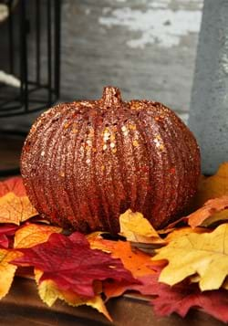 4in Orange Glitter Pumpkin