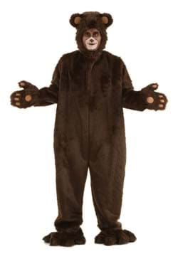 Adult Plus Size Deluxe Furry Brown Bear Costume Main