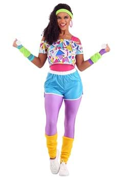 Women's Work It Out 80s Costume