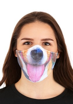Adult Dog with Tongue Sublimated Face Mask