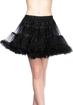 Black Layered Tulle Petticoat