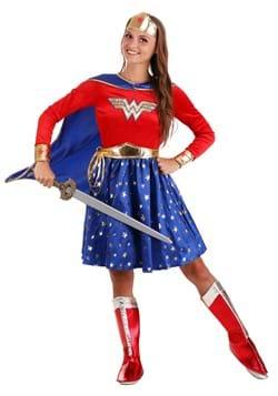 Wonder Woman Adult Long Sleeve Dress