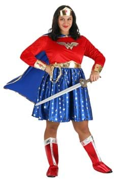 Wonder Woman Plus Size Long-Sleeved Dress upd