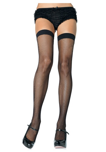 Nylon Black Fishnet Thigh Highs