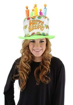 Rainbow Birthday Cake Plush Hat