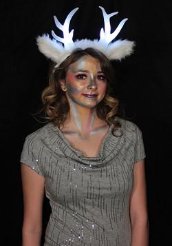 Light-Up Deer Antlers White LumenHorns Headband