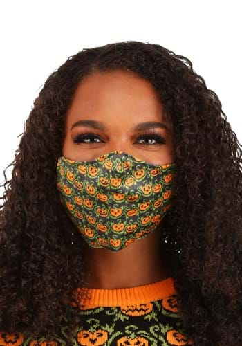 Adult Pumpkins Pattern Sublimated Face Mask