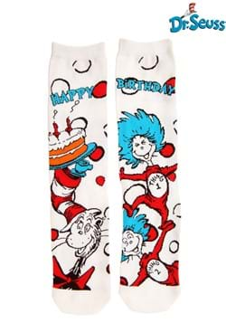 The Cat in the Hat Birthday Crew Socks Adult