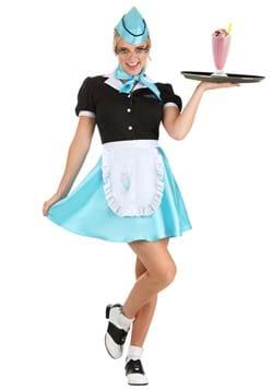 Women's Car Hop Waitress Costume
