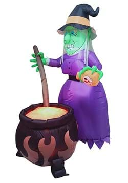 Inflatable 6 Foot Witch and Cauldron Halloween Decoration
