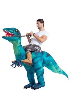 Inflatable Adult Raptor Ride-On Costume
