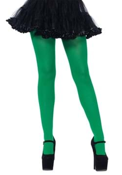 Green Plus Size Spandex Opaque Tights