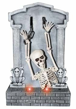 Shaking Skeleton on Tombstone
