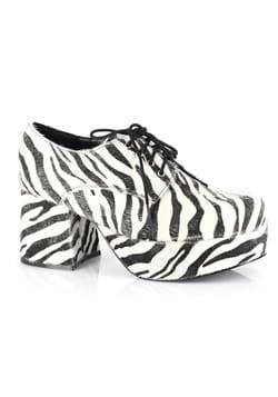 Mens Zebra Hologram Pimp Shoe