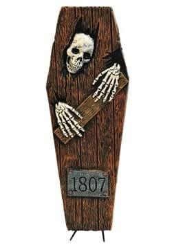 27 Inch Light Up Peeping Skeleton Coffin