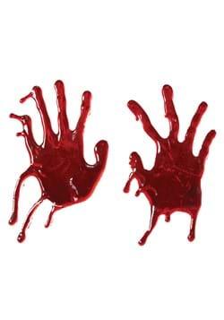 Bloody Hand Print Window Cling