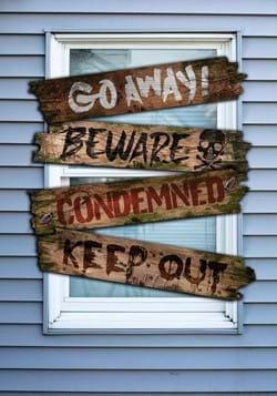 Haunted Window Boards w/ Words