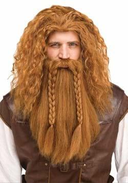 Brown Viking Adult Wig and Beard Set