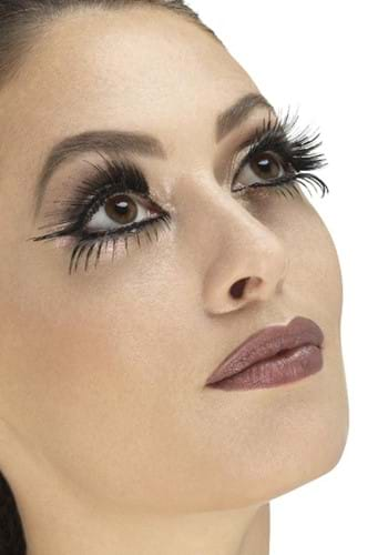 Black Dramatic Wing Eyelashes with Glue