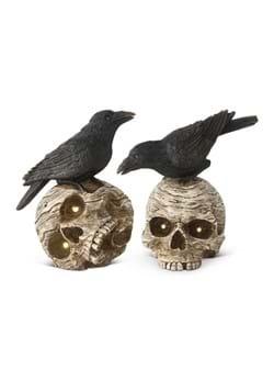 """8"""" Set of LED Skulls w/Crows"""