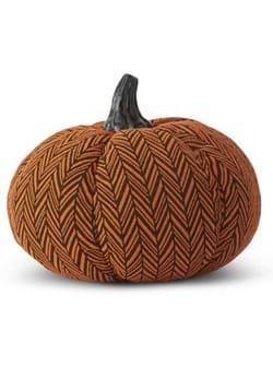 "8"" Orange & Black Herringbone Pumpkin"